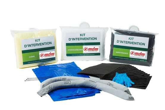 KITS D'INTERVENTION absorbants industriels : 20 Litres